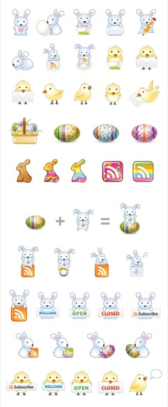 easter-bunny-icons